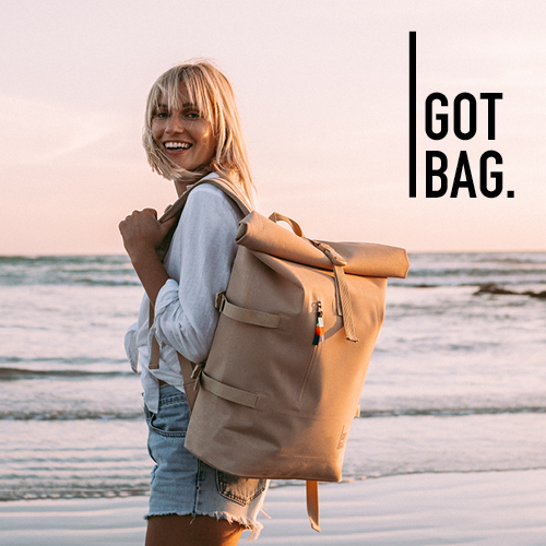 15€ on the first backpack made of ocean plastic