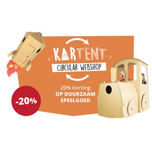 20% korting op al het kartonnen speelgoed van KarTent