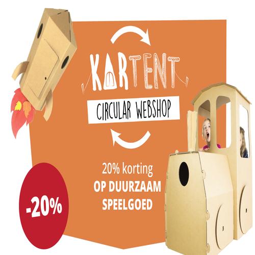 20% de réduction sur tous les jouets durables KarTent !